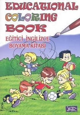 Educational Coloring Book Egitici Ingilizce Boyama Kitabi
