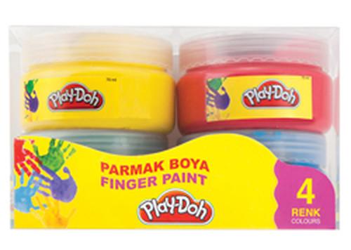 Play-Doh 4 Renk Parmak Boyası 70ml (JUMBO) PLAY-PR003