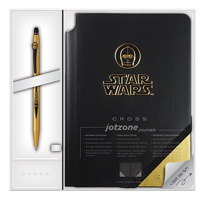 Cross Star Wars C-3PO Click/Jotzone - İşlemeli Jel Tükenmez Kalem + Defter Hediyelik Set