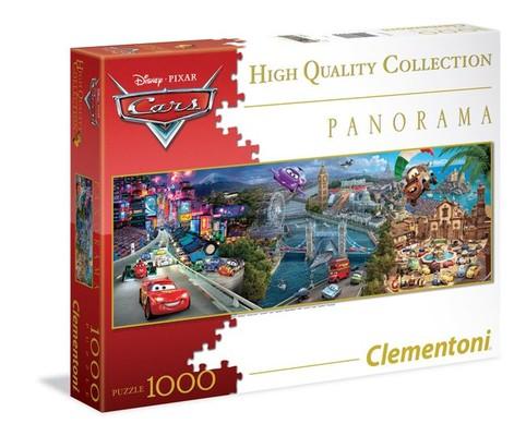 Clementoni- Disney Panorama Cars 1000 Parça Puzzle 39348