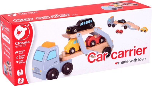 Classic World-Ahşap Araba Taşıma Tırı ve Araçlar W/3591