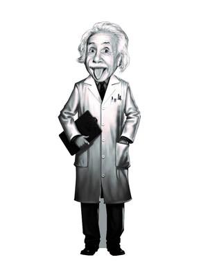 Aylak Adam Hobi-Albert Einstein Karikatür Ayraç