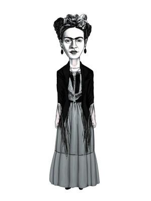 Aylak Adam Hobi-Frida Kahlo Karikatür Ayraç