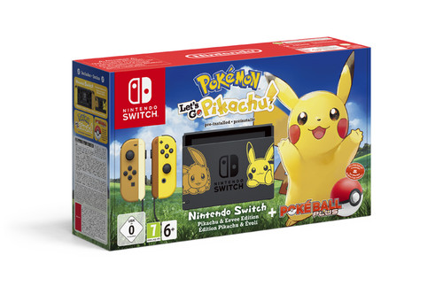 Nintendo Switch Konsol Pokemon Let'S Go Pikachu Paketi