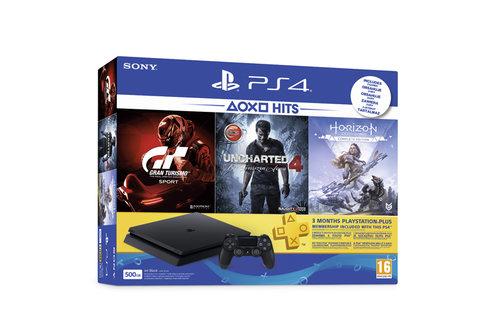 PS4 500GB F+HZD+GTS+UC4 Playstation Konsol