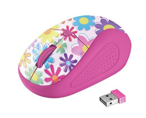 Trust Urban Primo Pink Flower Wireless Mouse