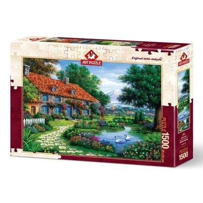Art Puzzle 1500 Kuğulu Bahçe 4551