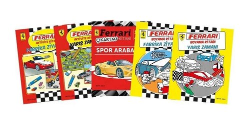Ferrari Boyama Aktivite Seti 5 Kitap Takim Kolektif Fiyati