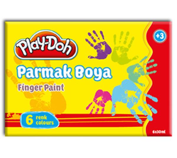 Play-Doh 6 Renk Parmak Boyasi 40 ml PLAY-PR001