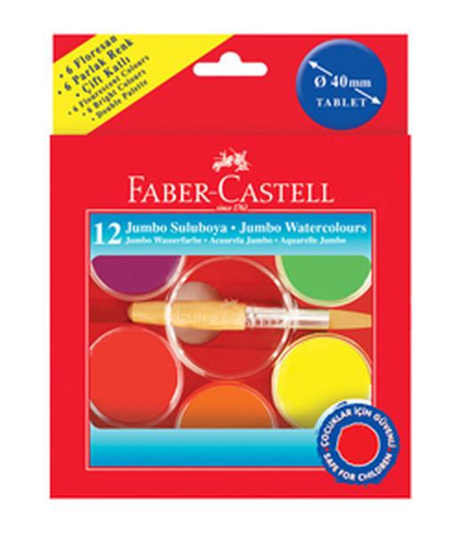 Faber-Castell 40Mm Jumbo Suluboya,12 Renk - 5292125015