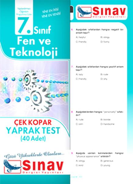 Sınav 7. Sınıf Fen ve Tekonoloji Çek Kopar Yaprak Test (40 Adet).pdf