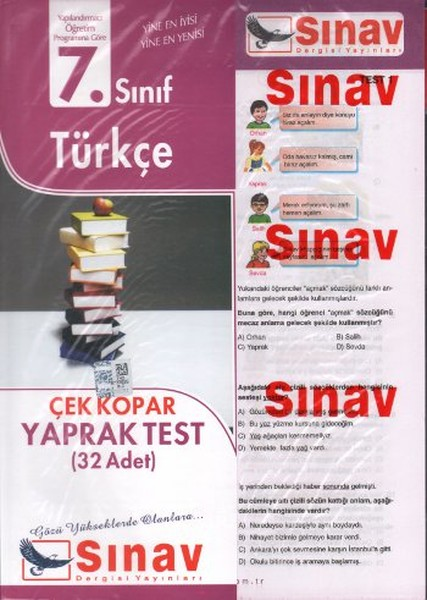 Sınav 7. Sınıf Türkçe Çek Kopar Yaprak Test (32 Adet).pdf