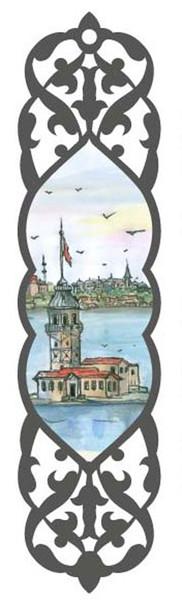 Galeri Alfa 2010202 Kiz Kulesi - Istanbul Serisi Kitap Ayraci Renkli