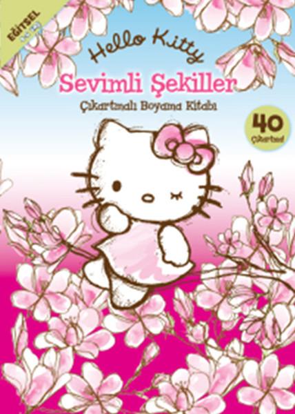 Hello Kitty Sevimli Şekiller Çıkartmalı Boyama Kitabı.pdf