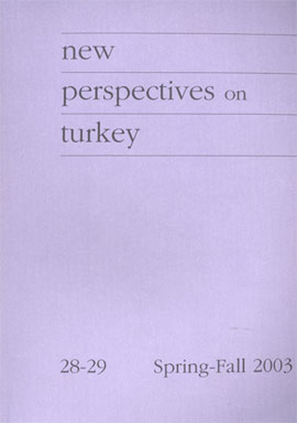 New Perspectives On Turkey No: 28-29