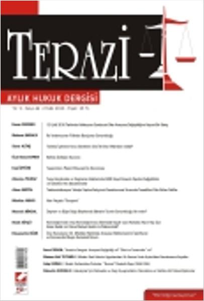 Terazi Aylık Hukuk Dergisi Yıl: 2 Sayı: 5.pdf