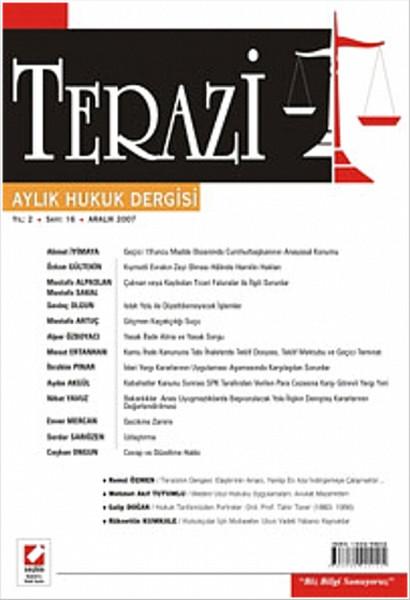 Terazi Aylık Hukuk Dergisi Yıl: 2 Sayı: 16 Aralık 2007.pdf