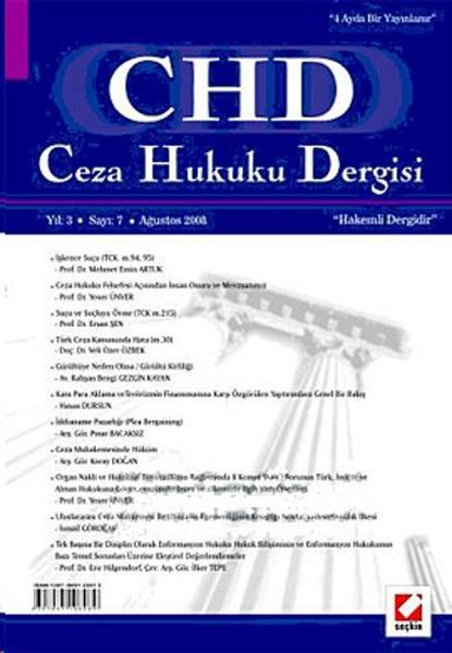 CHD Ceza Hukuku Dergisi Yıl: 3 Sayı: 7.pdf