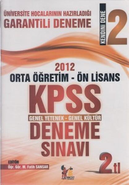 2012 Orta Öğretim - Ön Lisans KPSS Genel Yetenek - Genel Kültür Deneme Sınavı.pdf