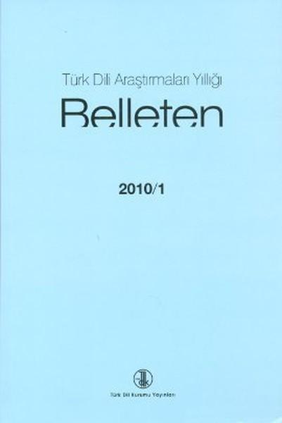 Türk Dili Araştırmaları Yıllığı - Belleten 2010 / 1.pdf