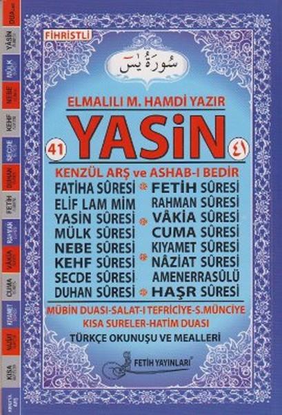 41 Yasin Türkçe Okunuş ve Mealleri - Orta Boy (Pembe Güllü - Kod Fo03).pdf