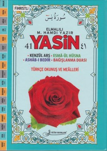 41 Yasin Türkçe Okunuş ve Mealleri - Rahle Boy (Mavi Güllü - Kod Fo31).pdf