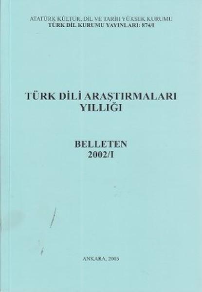 Türk Dili Araştırmaları Yıllığı - Belleten 2002 / 1.pdf