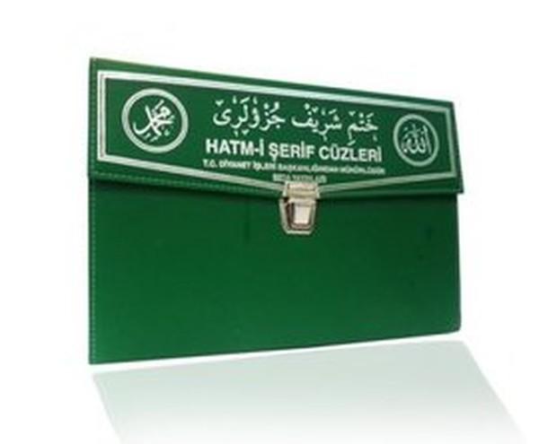 Kuran-ı Kerim 30 Cüz Hatim Seti (Rahle Boy, Çantalı, Yeşil Kapak, Kod: 102).pdf