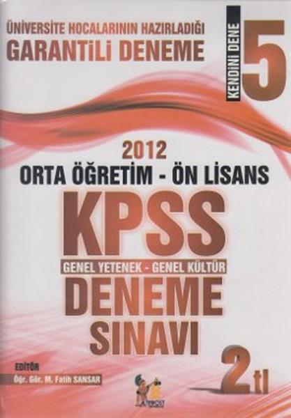 2012 Ortaöğretim - Ön Lisans KPSS Genel Yetenek - Genel Kültür Deneme Sınavı.pdf