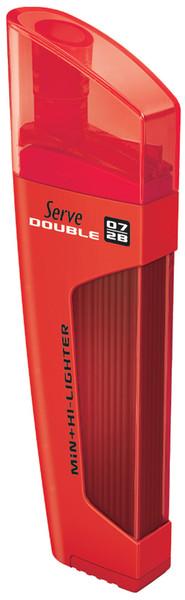 Serve Double Min 0,7 2B + Fosforlu Kalem Kirmizi - Fmk 07