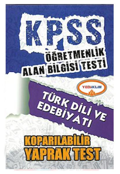 Yediiklim KPSS ÖABT Türk Dili ve Edebiyatı Koparılabilir Yaprak Test 2014.pdf