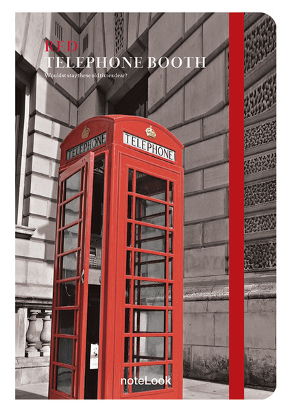 Notelook Red Telephone Booth A6 Çizgili
