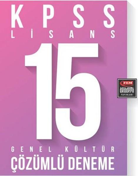 Fem Akademi KPSS Lisans 15 Genel Kültür Çözümlü Deneme.pdf