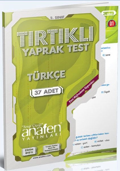 Anafen 2.Sınıf Türkçe Tırtıklı Yaprak Test - 37 Yaprak DVDli.pdf