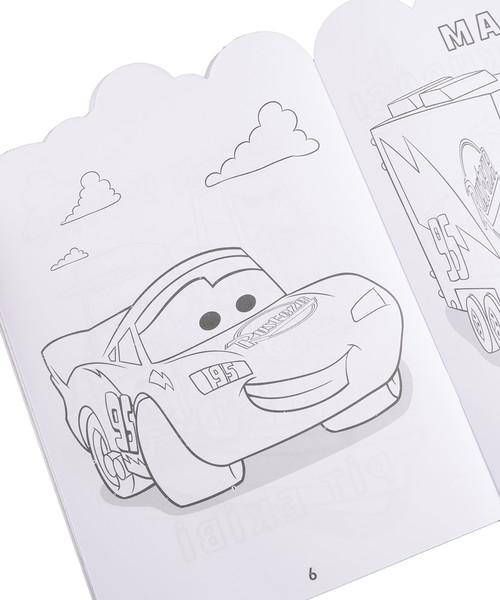 Disney Arabalar Yarış Coşkusu çıkartmalı Boyama