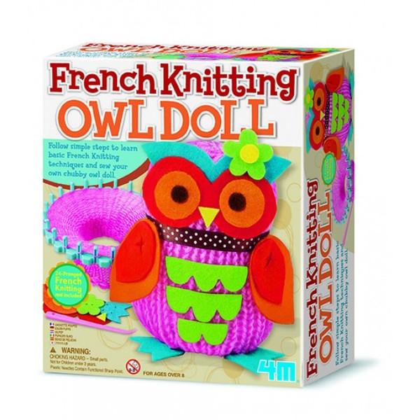 4M French Knitting Owl Doll / Örgü Baykus Bebek 2764