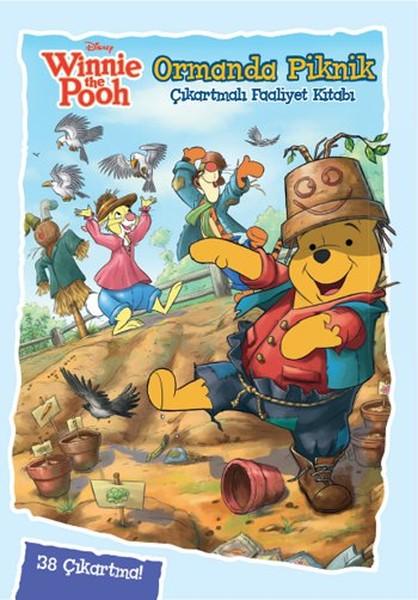 Disney Winnie The Pooh Ormanda Piknik Çıkartmalı Boyama