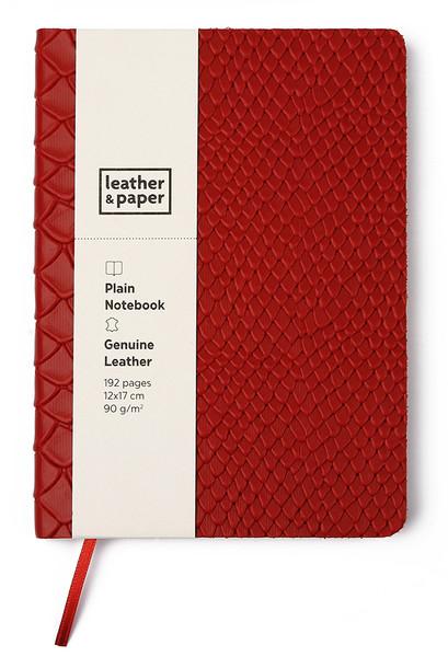 Leather & Paper 12x17 Kırmızı Yılan Baskı Defter