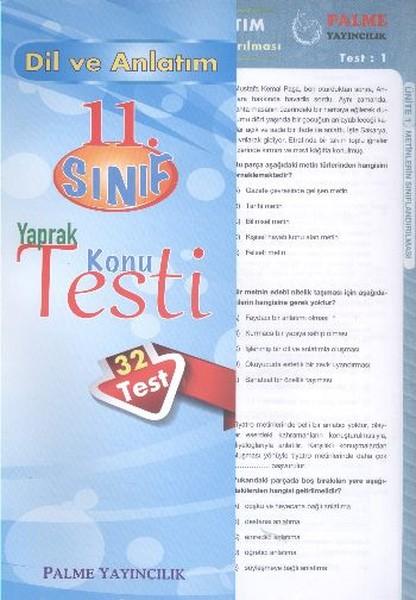 Dil Anlatım Yaprak Test 11. Sınıf.pdf