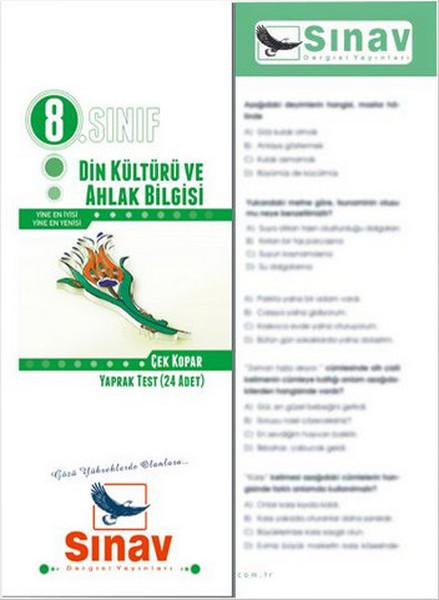 Sınav 8. Sınıf Din Kültürü ve Ahlak Bilgisi  Yaprak Test (24 Test).pdf