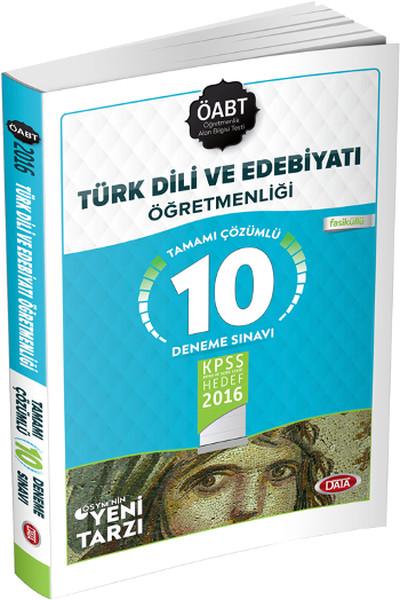 Data ÖABT Türk Dili ve Edebiyatı Öğretmenliği Tamamı Çözümlü 10 Deneme Sınavı 2016.pdf