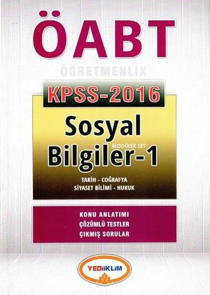 Yediiklim KPSS ÖABT Sosyal Bilgiler Öğretmenlik Konu Anlatımlı Modüler Set 2016.pdf