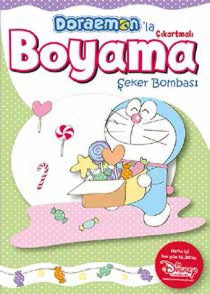 Doraemonla çıkartmalı Boyama şeker Bombası Kitap Müzik Dvd çok