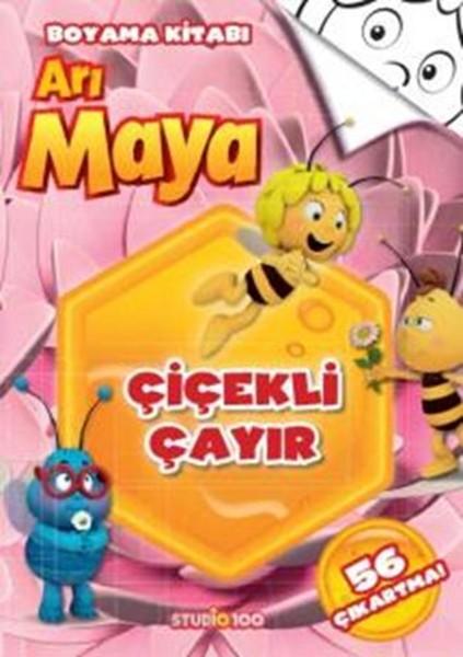 Arı Maya çiçekli çayır Boyama Kitabı Kitap Müzik Dvd çok