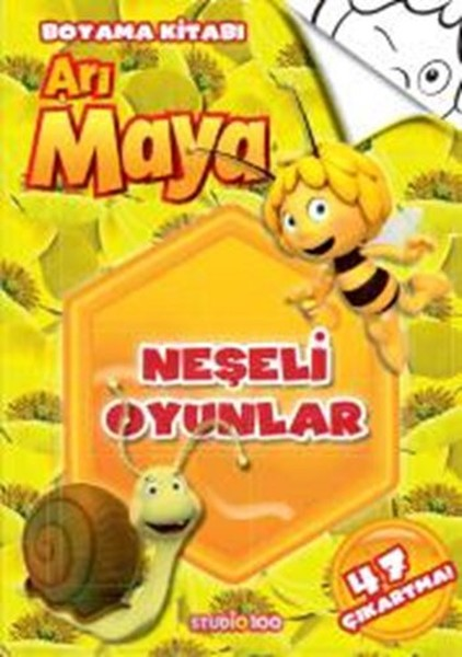 Arı Maya Neşeli Oyunlar Boyama Kitabı Kolektif Fiyatı Satın