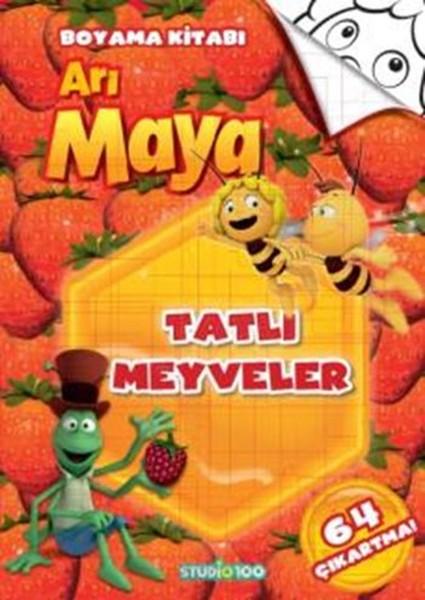 Arı Maya Tatlı Meyveler Boyama Kitabı Kitap Müzik Dvd çok