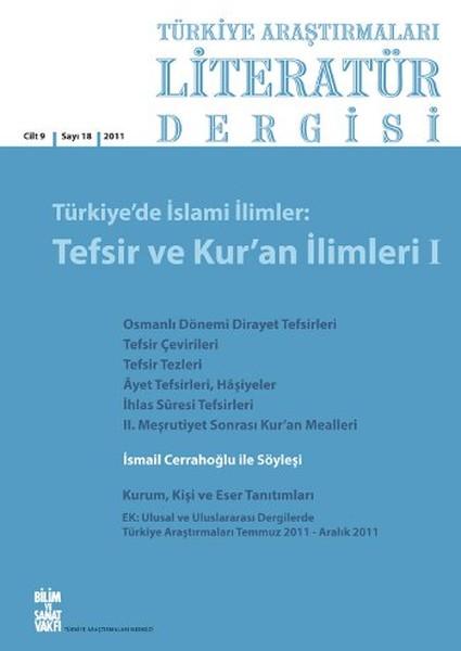 Türkiye Araştırmaları Literatür Dergisi Cilt:9 Sayı:18.pdf