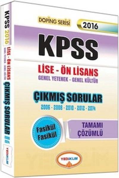 Yediiklim KPSS Lise Ön Lisans Tamamı Çözümlü Fasikül 2006-2014 Çıkmış Sorular.pdf