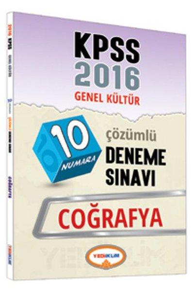 Yediiklim KPSS 2016 Genel Kültür 10 Numara Coğrafya Çözümlü Deneme Sınavı.pdf