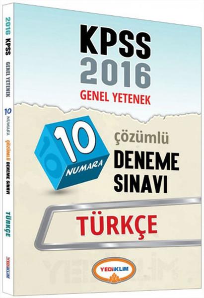 Yediiklim KPSS Genel Yetenek 10 Numara Türkçe Çözümlü Deneme Sınavı.pdf